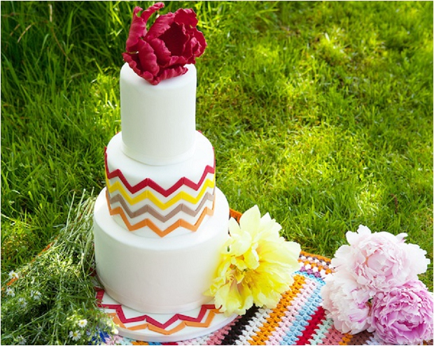 Geometric Wedding Cakes - The Prettiest & Coolest Wedding Cake Trends For 2014