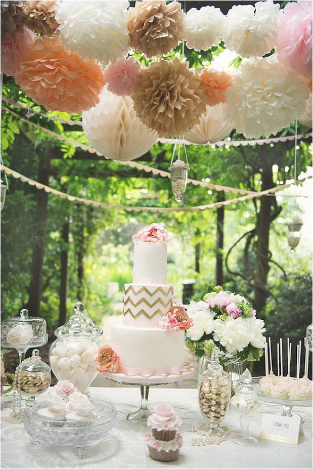 Styled Dessert Tables - The Prettiest & Coolest Wedding Cake Trends For 2014