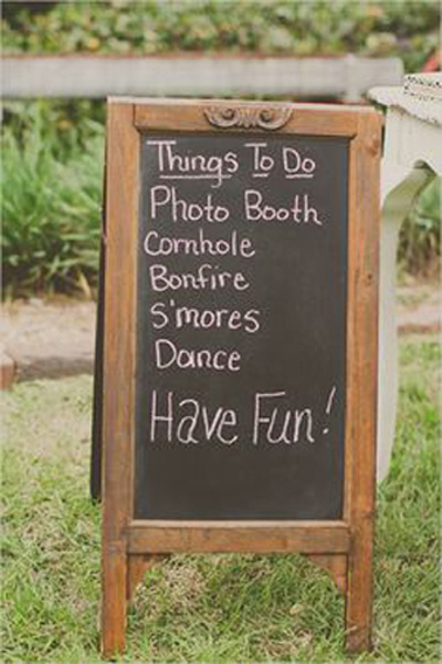 things to do wedding signage