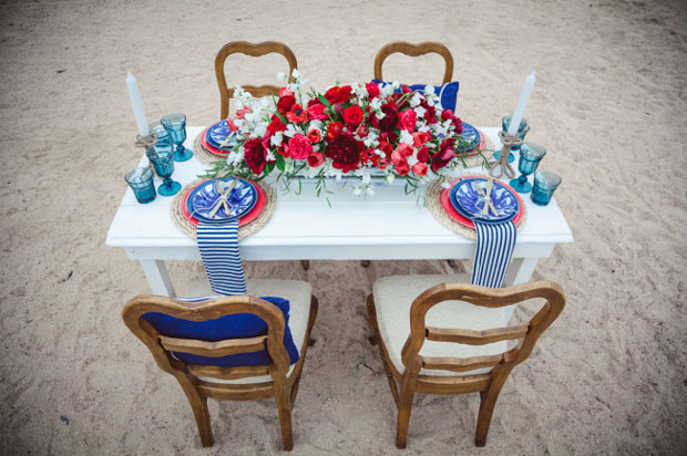 Table Setting for four nautical