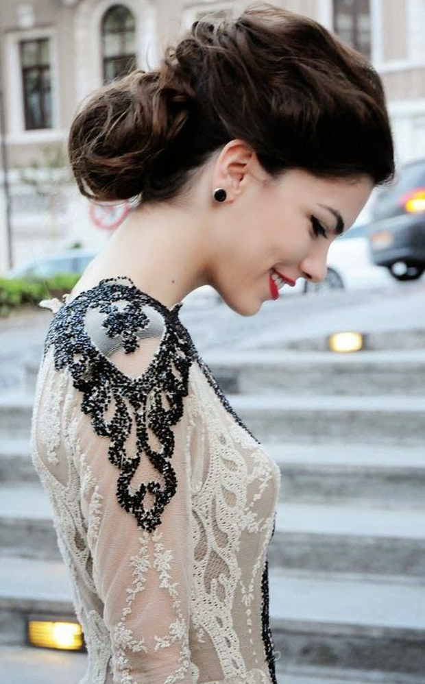 Top Wedding Dress Trends 2014 - black accent lace