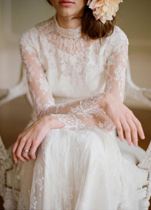 Top Wedding Dress Trends 2014 - Long Slleves