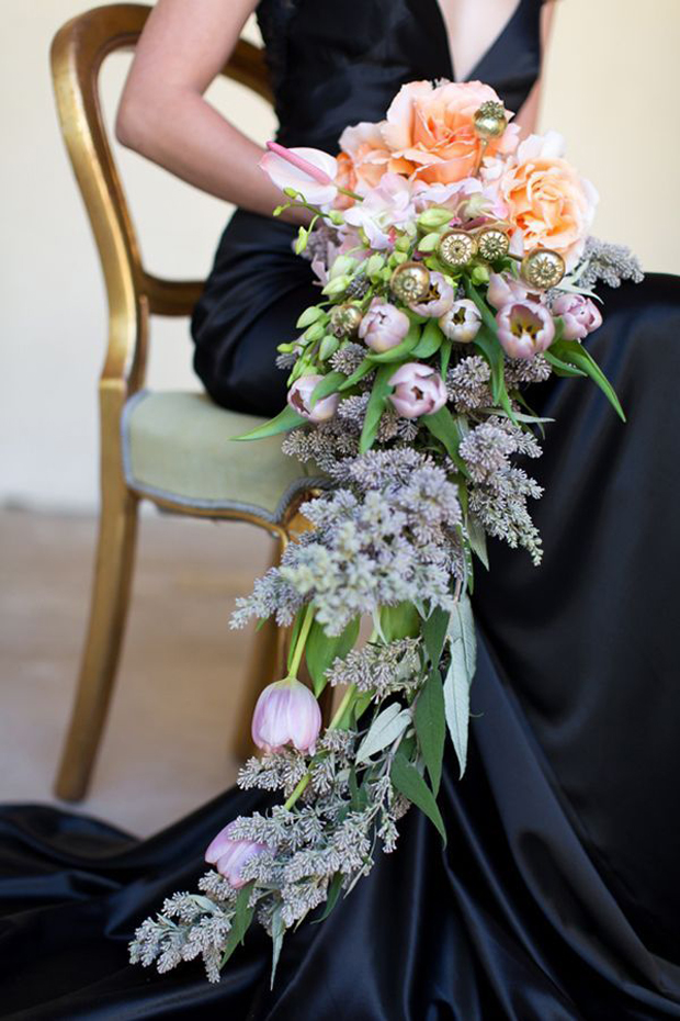 dramatic cascading bouquet