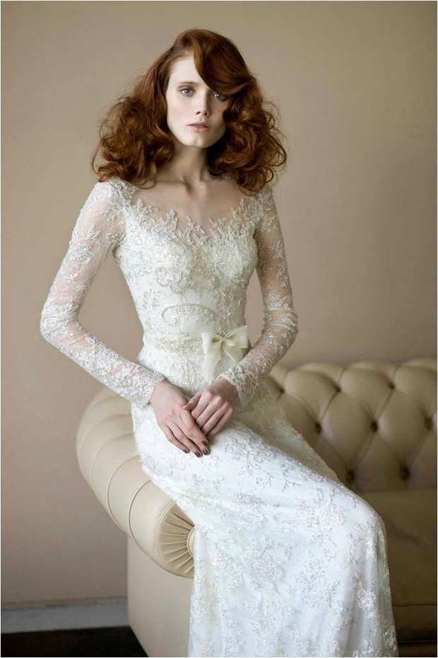 Top Wedding Dress Trends 2014 - Long lace sleeves
