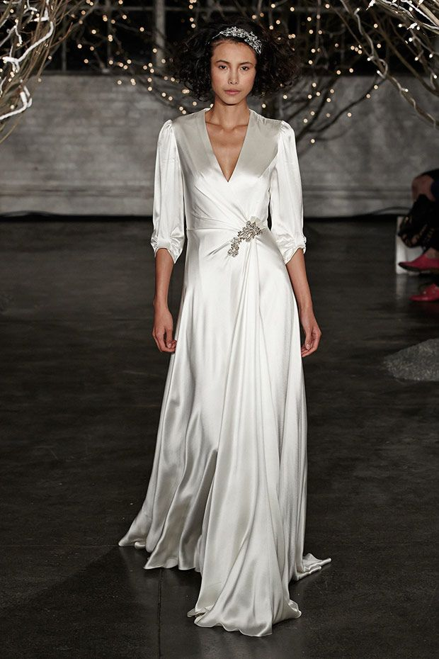 Top Wedding Dress Trends 2014 - Long silk sleeves
