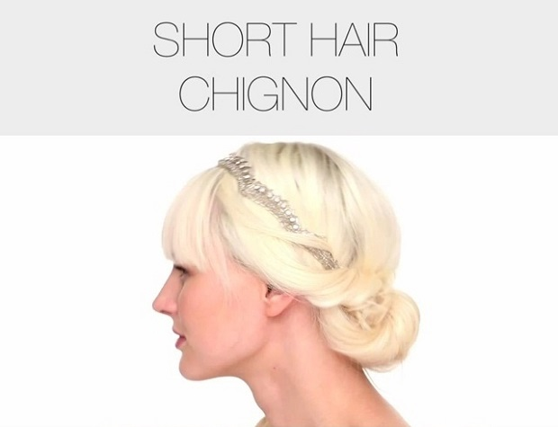 Get Shorty: Cute Chignon Tutorial | Medium To Short Hair