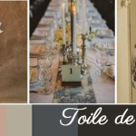 French Wedding Inspiration | Toile de Jouy: Black, Beige & Blush