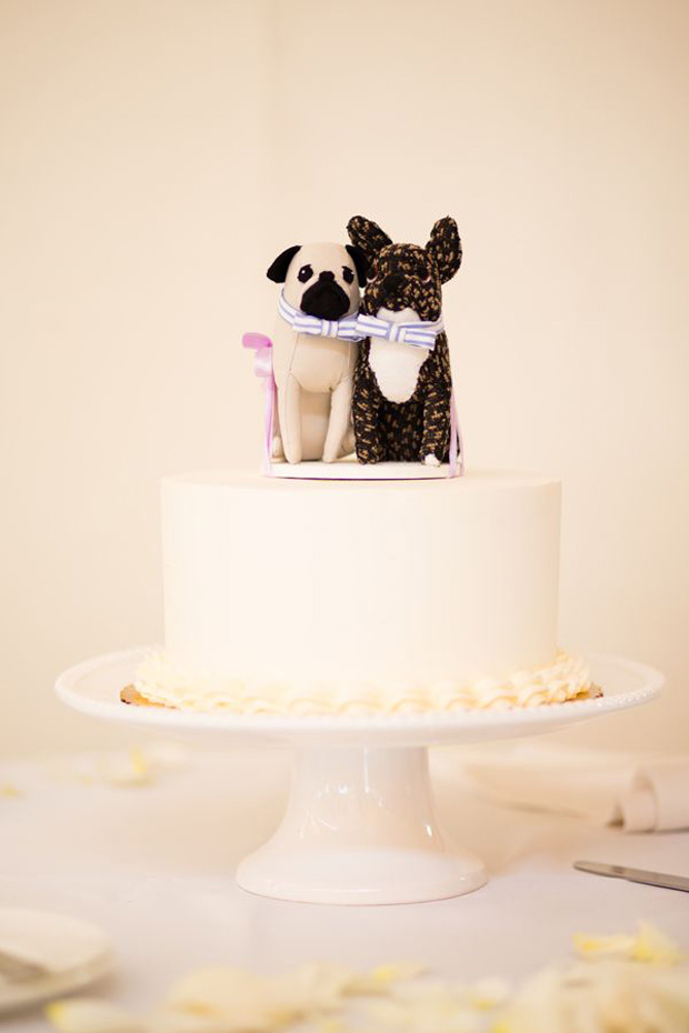 Black & White Toy Dog Cake Topper
