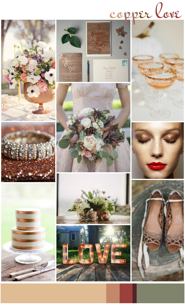 Copper: Wedding Inspiration | Colour Ideas