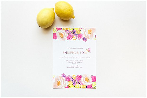Floral Citrus Collection - BerinMade Wedding Stationery