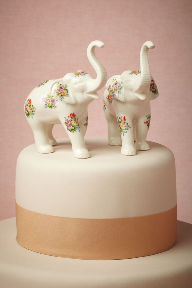 Indian Wedding Elephant Cake Toppers
