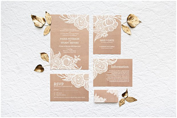 Floral Lace Collection - BerinMade Wedding Stationery