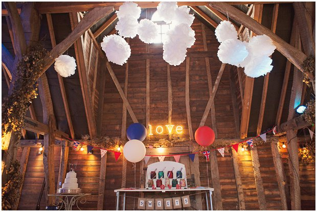 Vintage Carnival | Red, White & Blue Themed Real Wedding: Hayley & Tom