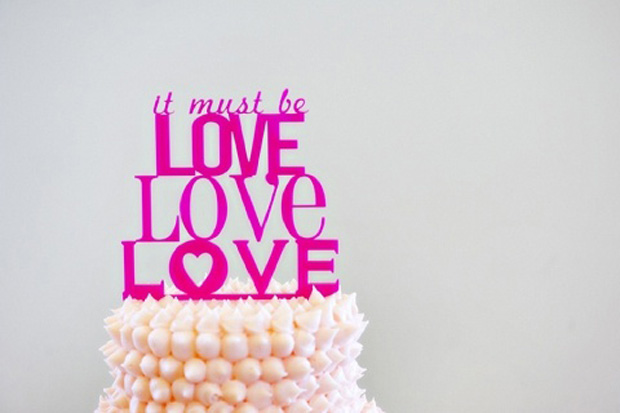 It must be love cake topper
