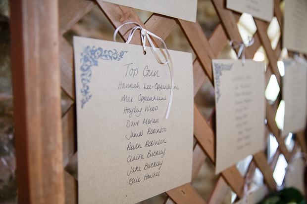 Top gun wedding table plan