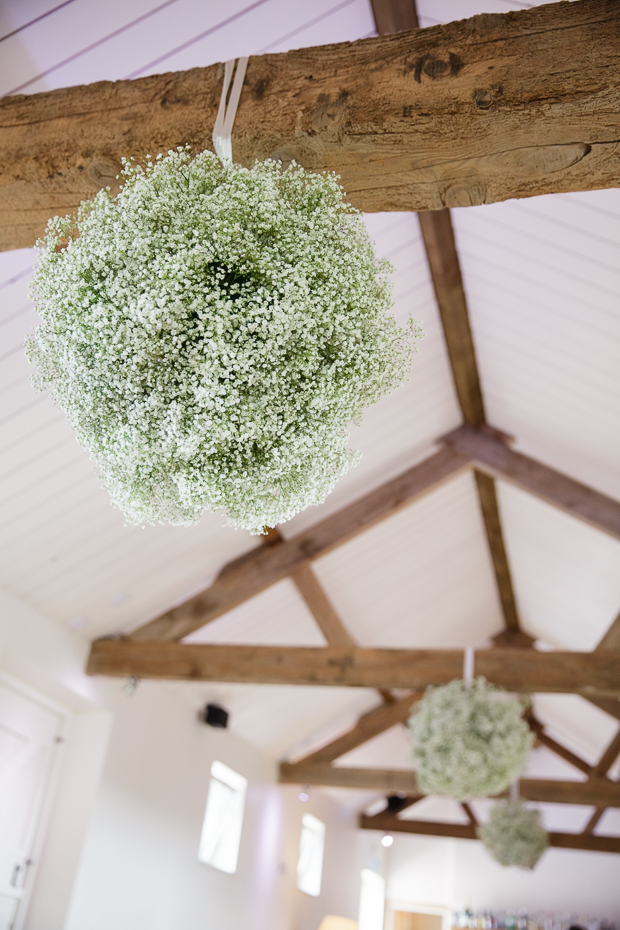 baby's breath hanging pomander