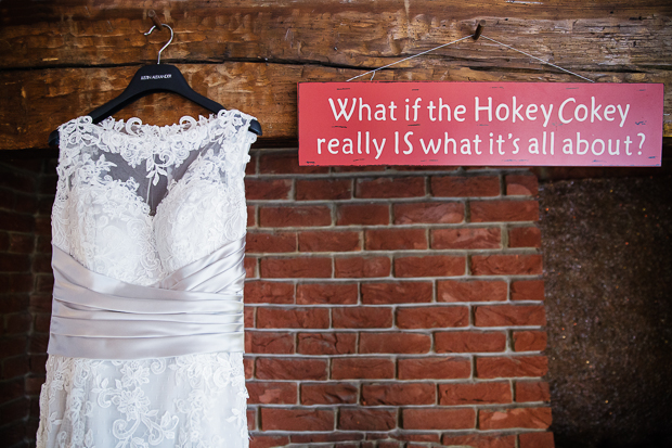 wedding signage - what if the hokey cokey really is what it's all about