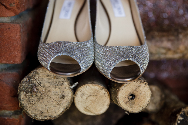 Silver sparkling Jimmy Choo Wedding Shoes