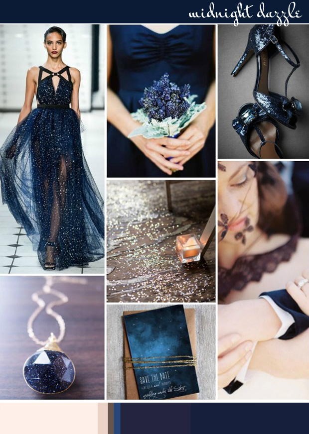 Midnight Dazzle: Wedding Inspiration | Colour Ideas