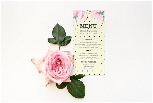 Polka Dots & Peonies Collection - BerinMade Wedding Stationery