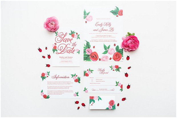 Rose & Ladybugs Collection - BerinMade Wedding Stationery