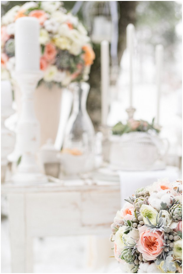 Pretty Peaches & Greens | Black, White & Silver: A Wonderful Winter Styled Shoot