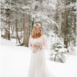 Pretty Peaches & Greens   Black, White & Silver: A Wonderful Winter Styled Shoot