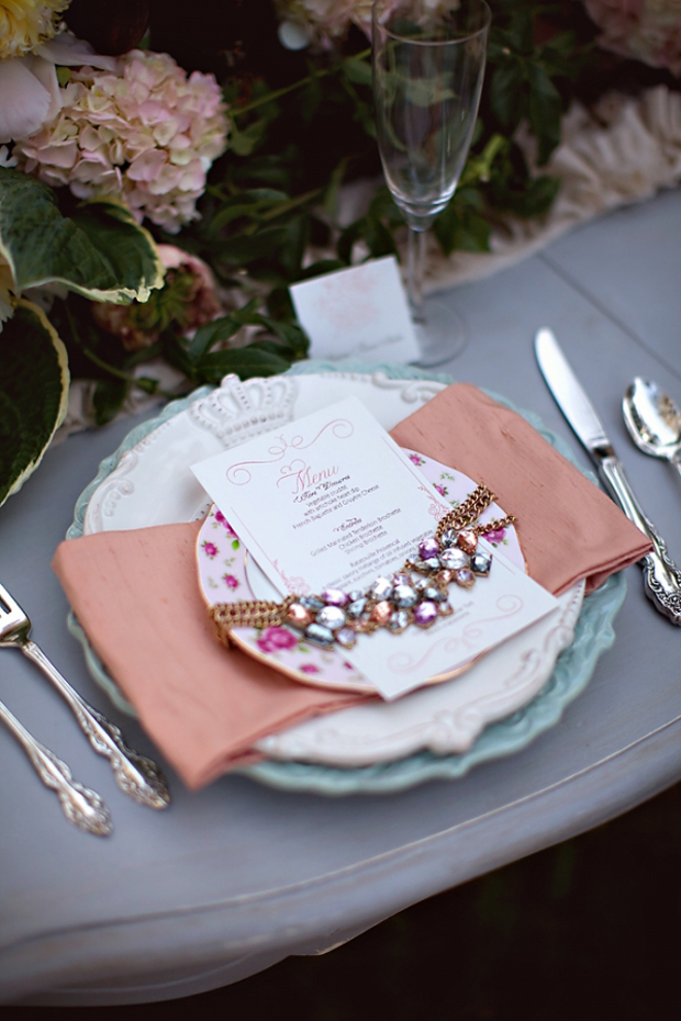 bejewelled table setting