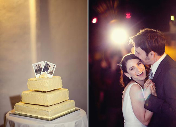 polaroid wedding cake topper