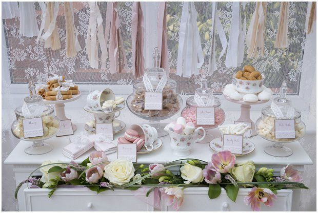 romantic, vintage inspired dessert table with a soft colour palette of pinks, ivory's and nudes_0002