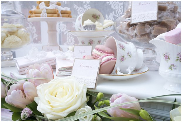 romantic, vintage inspired dessert table with a soft colour palette of pinks, ivory's and nudes_0003