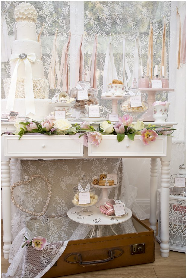 romantic, vintage inspired dessert table with a soft colour palette of pinks, ivory's and nudes_0005