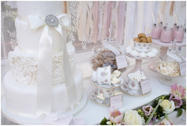 romantic, vintage inspired dessert table with a soft colour palette of pinks, ivory's and nudes_0021