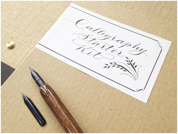 Diy calligraphy wedding stationery starter kit