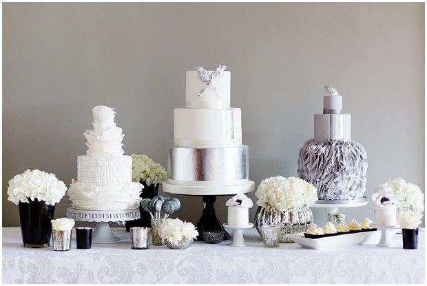 Contemporary, Modern & Trendy: Wedding Cakes by Krishanthi | Grey, Soft Mauve and Metallic