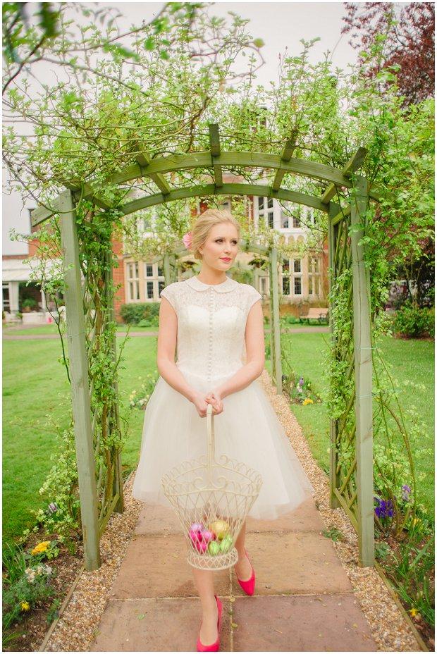 Spring Garden   Easter Styled Wedding Shoot: Pink & Gold