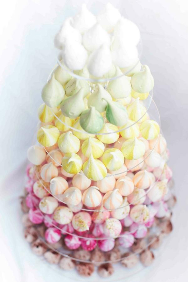 Meringue Kisses: Move Over Macarons [And Cupcakes] meringue kisses tower