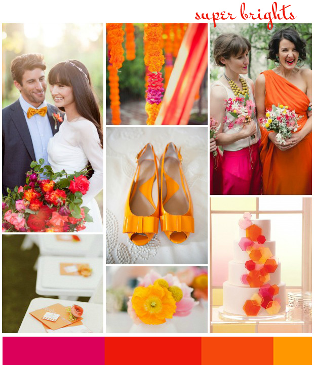 Super Brights |Orange & Pink: Wedding Ideas + Colour Inspiration