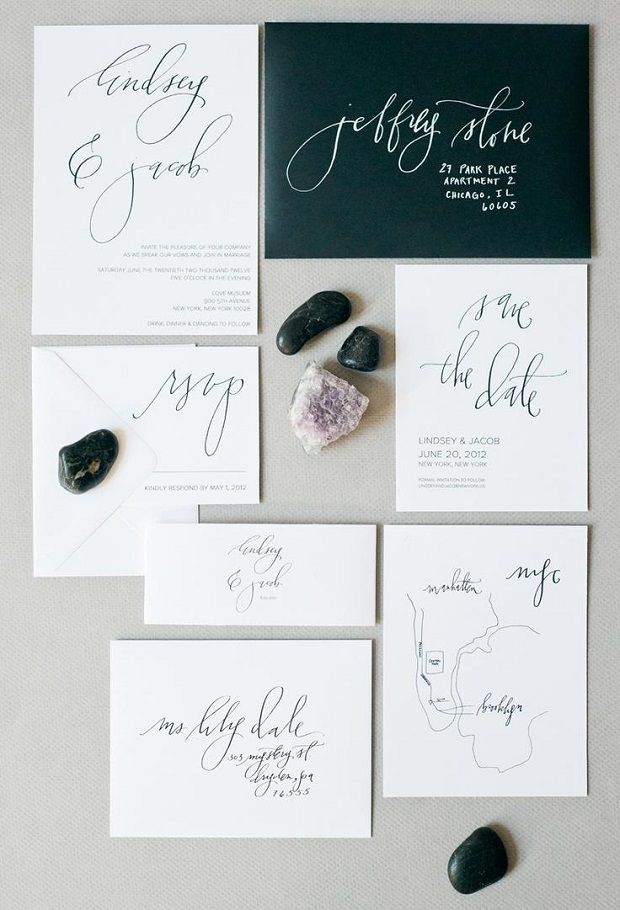 wedding calligraphy invite