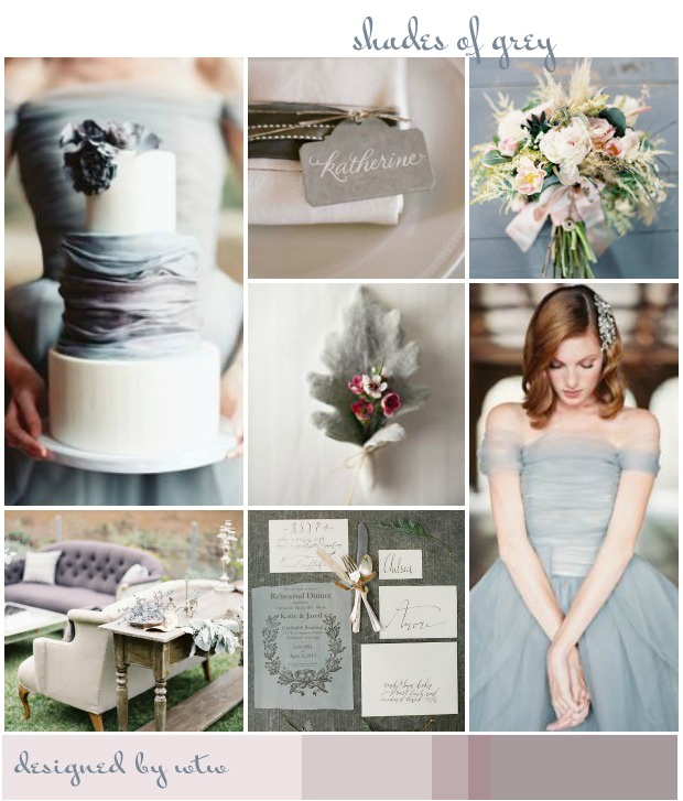 Shades Of Grey: Wedding Inspiration | Colour Ideas