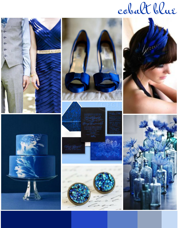 Cobalt Blue Wedding Inspiration Colour Ideas