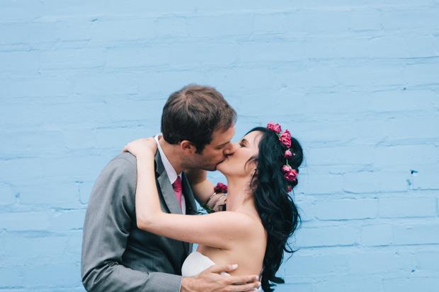 Modern Green & Pink Wedding: Frances & Tom