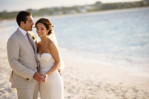 Inbal Dror Wedding Dress - Destination Wedding (Turks & Caicos)