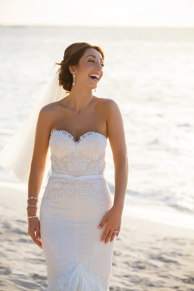Inbal Dror Wedding Dress - Destination Wedding (Turks & Caicos)