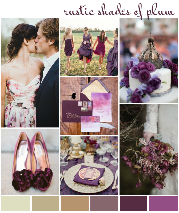 Rustic Shades of Plum: Colour Inspiration & Wedding Ideas