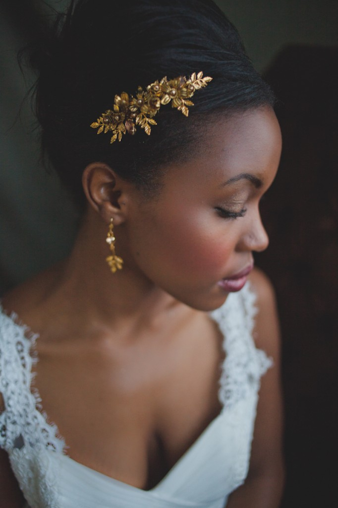 Metallic & Glittering Gold Headpieces + Veils + Accessories