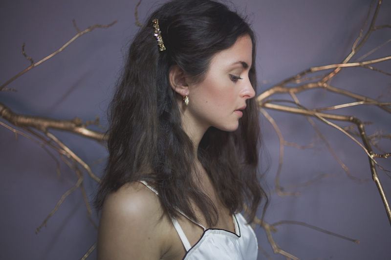 Metallic & Glittering Gold Headpieces + Veils + Accessories