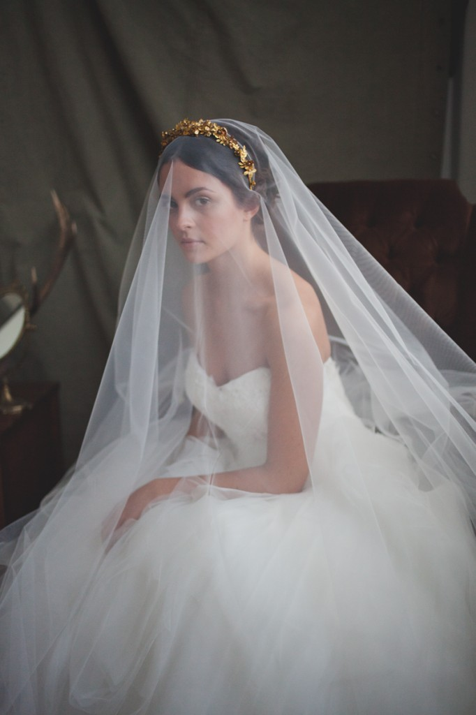 Metallic & Glittering Gold Headpieces + Veils