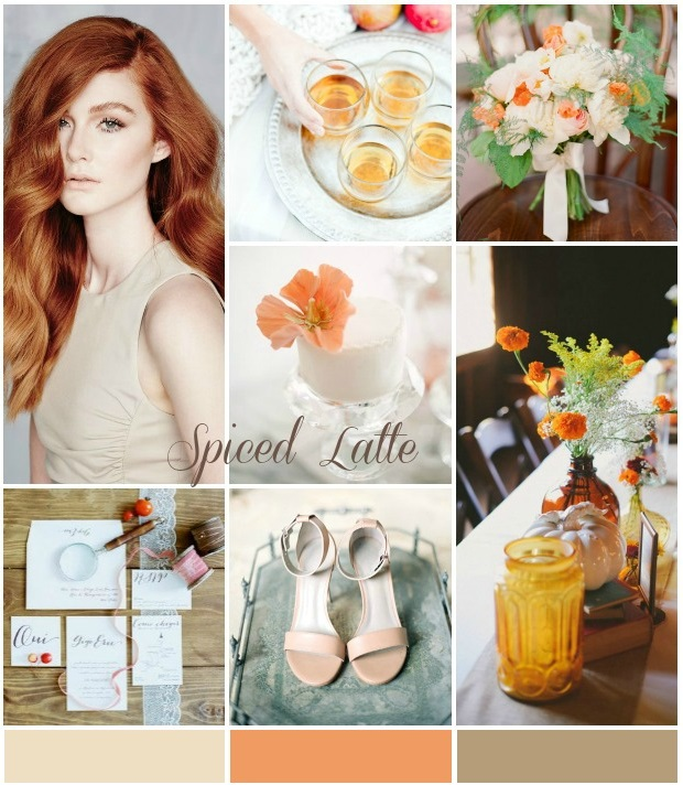 Colour Ideas! Spiced latte and pumpkin wedding inspiration