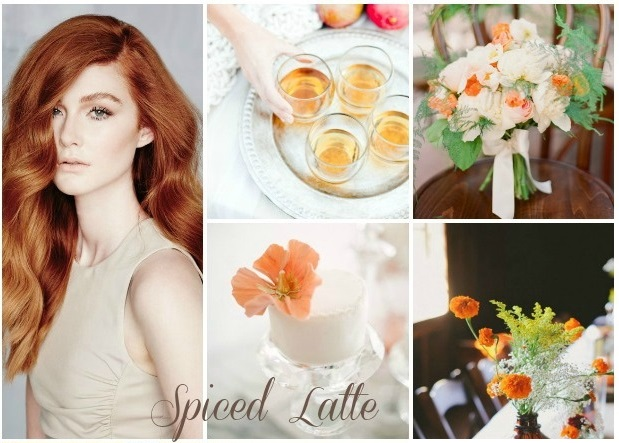 Colour Ideas! Spiced latte and pumpkin wedding inspiration